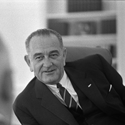 Headshot of Lyndon B. Johnson