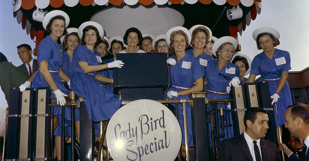 Lady Bird Express train campaigning 1964