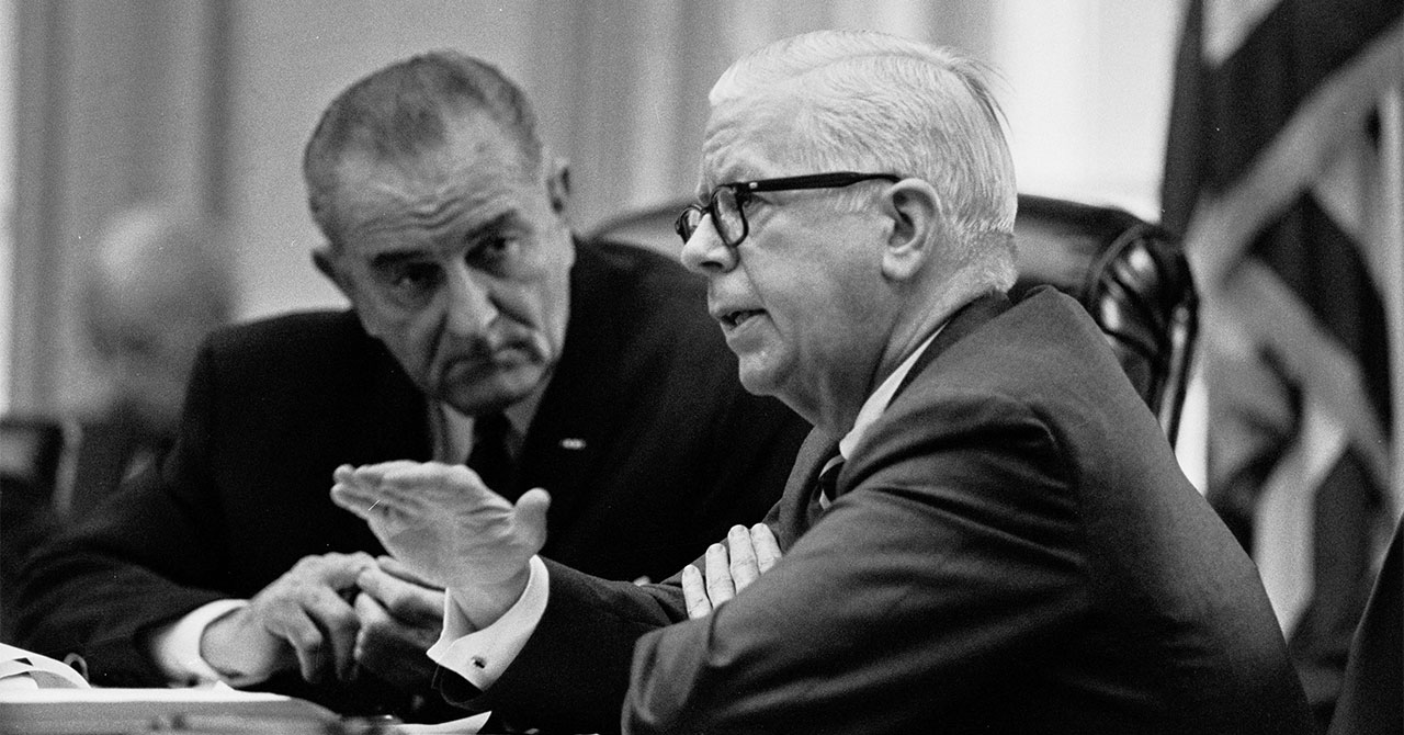LBJ and Henry Fowler