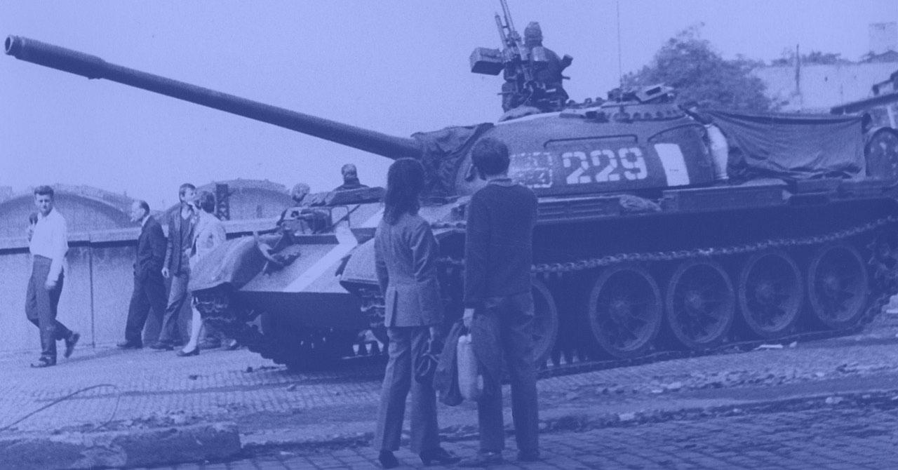 Soviet tank in Czechoslavakia