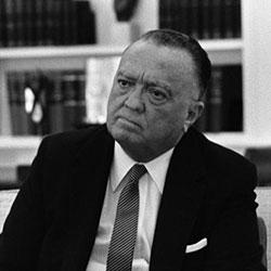Headshot of J. Edgar Hoover