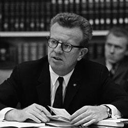 "Headshot of Lawrence F. ""Larry"" O'Brien Jr."