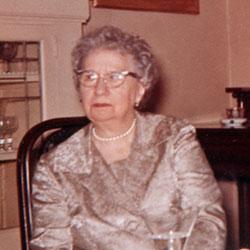 """Headshot of Elizabeth V. """"Bess"""" Truman"""