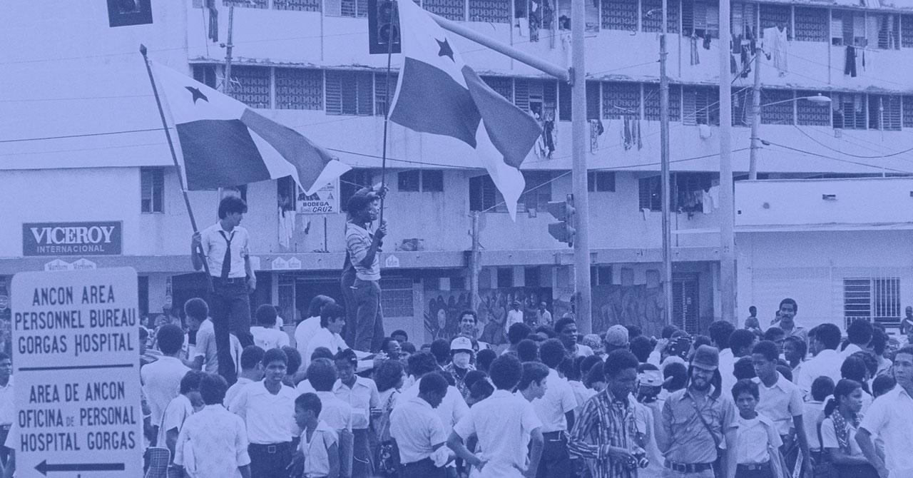 Protestors in Panama
