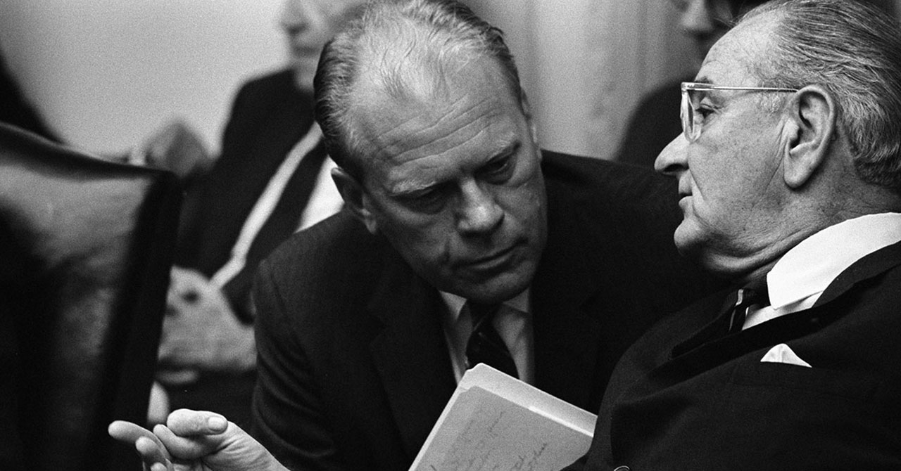 Gerald Ford and LBJ