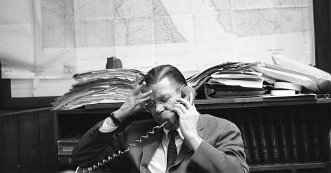 Robert McNamara on the phone
